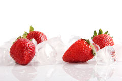 Ice strawberries Royalty Free Stock Image