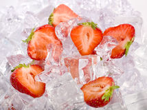 Ice Strawberries Stock Images