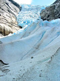 The ice stream. Briksdal glacier, Norway Royalty Free Stock Photography