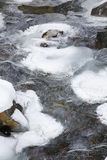 Ice on stream. Thin layer of ice on stream, making stream appear as if made of glass Royalty Free Stock Photography