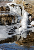 Ice and stream water Stock Photos