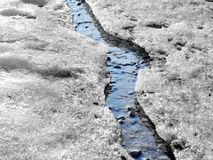 Ice stream in winter nature Royalty Free Stock Images