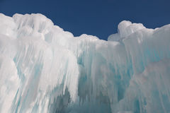 Ice structure with background of blue sky Stock Image