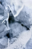 Ice structure from winter creek. Royalty Free Stock Image