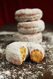 Ice sugar powder donut Stock Image