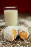 Ice sugar powder donut Stock Image