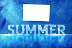 Ice summer text Stock Photography
