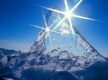Ice and sun stock photos