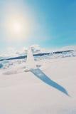 Ice sundial Stock Photo