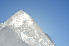 Ice with sunny sky Royalty Free Stock Image