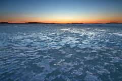 Ice with sunrise Royalty Free Stock Image