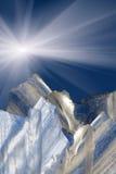 Ice  sunrise   sky Royalty Free Stock Images