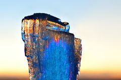 Ice at sunset Stock Images