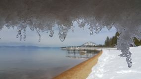 Ice. Sunshine after snow at lake tahoe Royalty Free Stock Photos