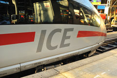 ICE Super fast train on the platform Royalty Free Stock Photos
