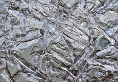 Ice surface. Beautiful pattern of the ice surface on a lake at winter Stock Photo