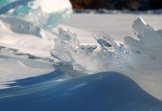 Ice on the surface of Lake Baikal Stock Image