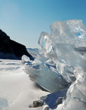 Ice on the surface of Lake Baikal Stock Images