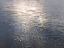 Ice surface texture Royalty Free Stock Photos