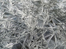 Ice on surface water Stock Photos