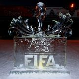 Ice symbol the FIFA World Cup 2018 stock photography