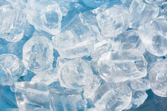 Ice. Take photo close up ice in factory Royalty Free Stock Images