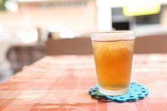 Iced tea. In close up royalty free stock photos