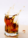 Ice Tea. Glass of cold ice tea Stock Images