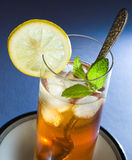 Ice Tea. With Mint and Lemon Royalty Free Stock Photography