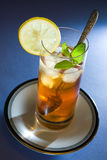 Ice Tea. With Mint and Lemon Stock Image