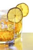 Ice tea. With lemon islate on white Stock Image