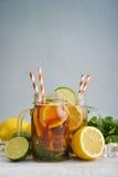 Ice tea with fresh lemons Stock Photos