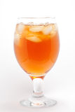 Ice tea in a glass. On a white background Royalty Free Stock Images