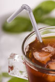 Ice tea in the glass - closeup Royalty Free Stock Photography