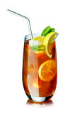Ice tea in the glass Stock Photography