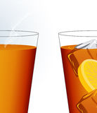 Ice tea and hot tea Royalty Free Stock Photography