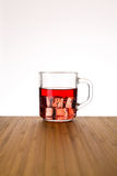 Ice tea with ice cube Royalty Free Stock Image