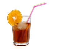 Ice tea on ice cubes Stock Photography