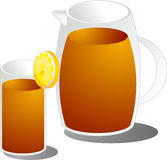 Ice tea illustration Stock Images