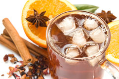 Ice tea with ingredients Stock Photo