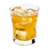 Ice tea isolated glass Stock Photo