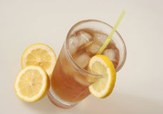 Ice Tea and lemon Stock Images