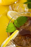 Ice tea with lemon. Viewed from top Royalty Free Stock Image