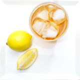 Ice tea with lemon Stock Images