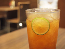 Ice tea with lemon Stock Photography