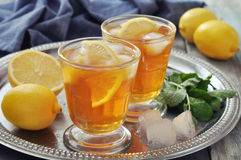 Ice tea with lemon Royalty Free Stock Photo