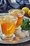 Ice tea with lemon Stock Photo