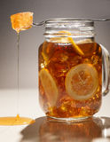 Ice tea lemon honey Royalty Free Stock Photography