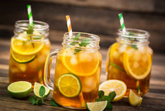 Ice tea with lemon Royalty Free Stock Images