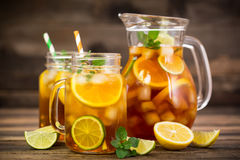 Ice tea with lemon Royalty Free Stock Photo